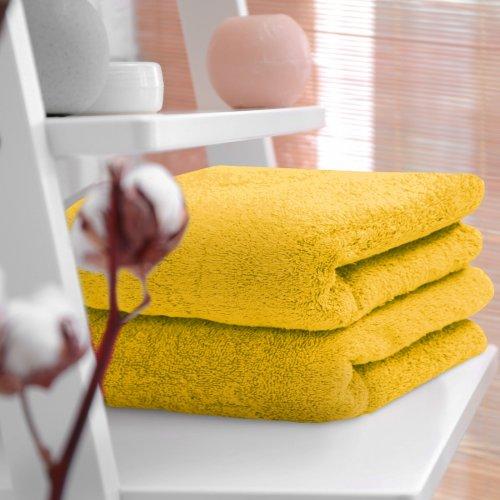 HOTELOWY RĘCZNIK 50x100 żółty 500GSM