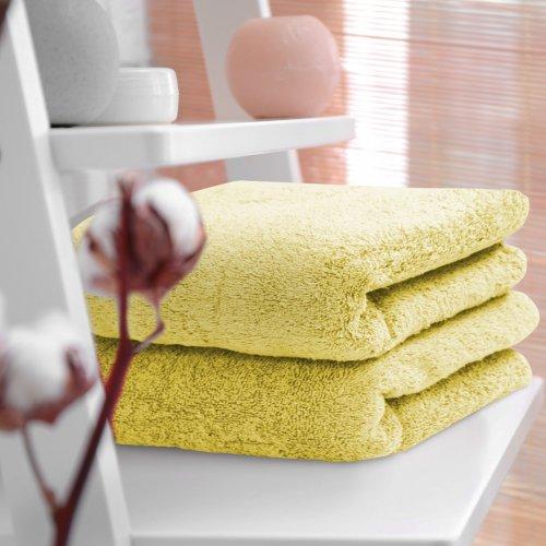 HOTELOWY RĘCZNIK 50x100 żółty pastel 500GSM