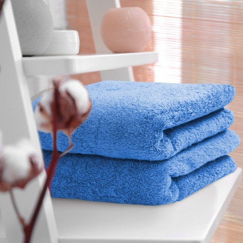 HOTELOWY RĘCZNIK 70x140 niebieski 500GSM