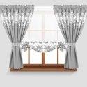 Firana GOTOWA 168-31 PANEL WOAL 145x130 + zasłony 145x160