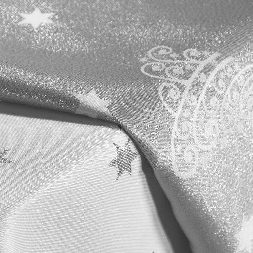 Obrus Świąteczny CHRISTMAS TREE SILVER 282-32 srebrny