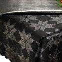Obrus Świąteczny ETA CARINAE 297-34 srebrny czarny