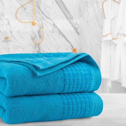 Ręcznik frotte PAOLO 50x90 323-85 lazurowy turkus