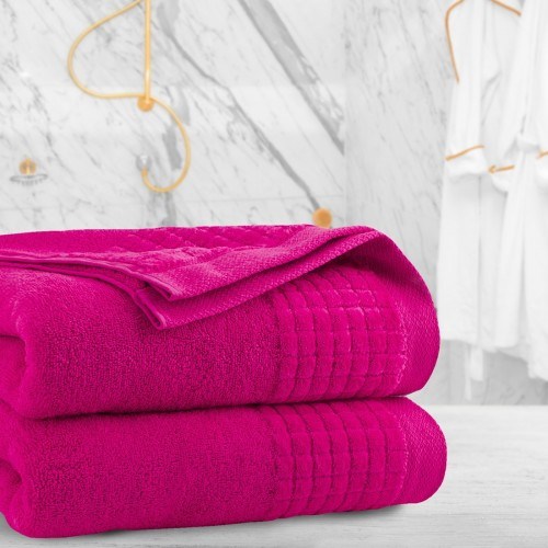 Ręcznik frotte PAOLO 70x140 323-11 róż mocny