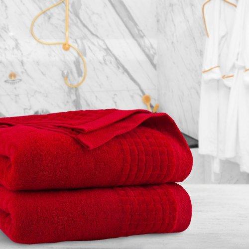Ręcznik frotte PAOLO 70x140 323-12 czerwony
