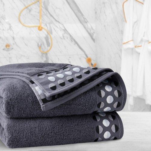 Ręcznik frotte Zwoltex ZEN 70x140 322-61 grafit