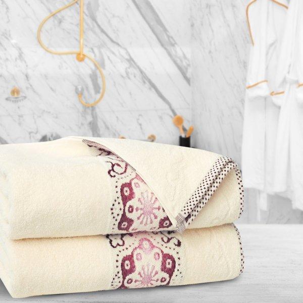 Ręcznik frotte Zwoltex VICTORIA 50x90 325-02 ecru