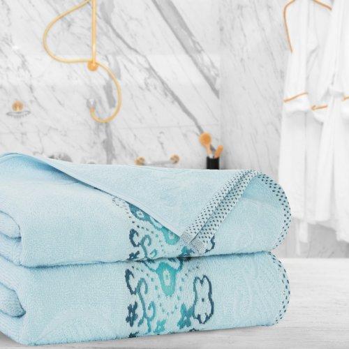 Ręcznik frotte Zwoltex VICTORIA 50x100 325-14 błękit
