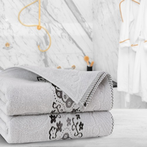 Ręcznik frotte Zwoltex VICTORIA 50x100 325-31 szary