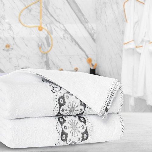 Ręcznik frotte Zwoltex VICTORIA 50x90 325-01 biały