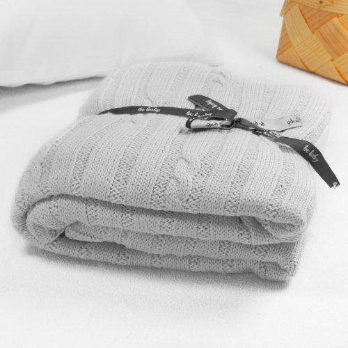 Kocyk bawełniany dla dziecka ONLY BABY 100x75 535-31 szary