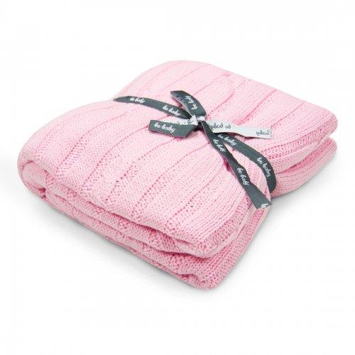 Kocyk bawełniany dla dziecka ONLY BABY 100x75 535-87 różowy