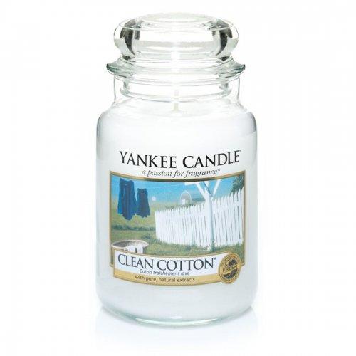 Świeca zapachowa Yankee Candle CLEAN COTTON duży słoik
