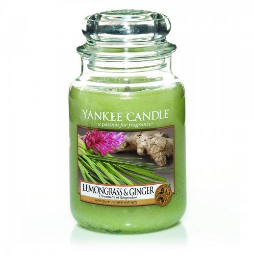 Świeca zapachowa Yankee Candle LEMONGRASS & GINGER duży słoik