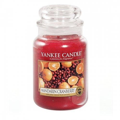 Świeca zapachowa Yankee Candle MANDARIN CRANBERRY duży słoik