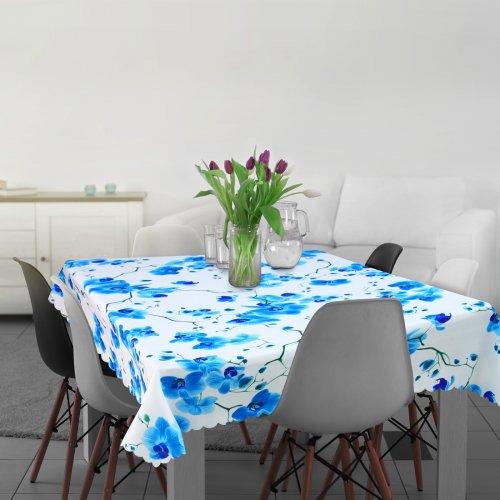 Obrus ORCHIDEE 181-04 niebieski