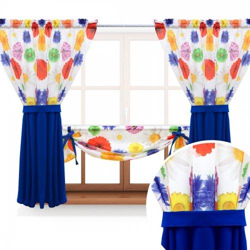 Zasłona GOTOWA GERBER PASSION PANEL 397-03-404-15 kolorowy chaber 2 x 145x160 1 x 145x130